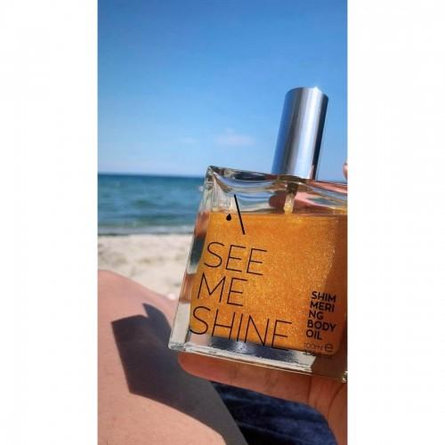 Apicure Shimmering Body Oil See me Shine - Λάδι Λάμψης & Περιποίησης Σώματος