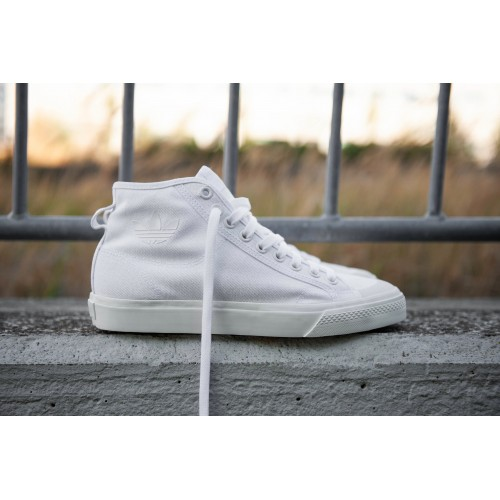 Adidas Originals - Nizza Hi Top (White / Off White) | B41643