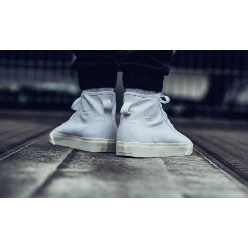 Adidas Originals - Nizza Hi Top (White / Off White) | B41643