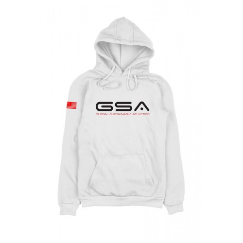 Men's GSA Earth Crew Hoodie in White | 1719203-02
