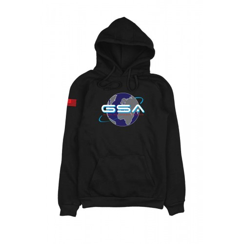 Men's GSA Earth Crew Hoodie in Black | 1719204-01