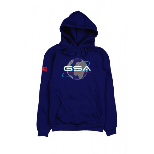 Men's GSA Earth Crew Hoodie in Blue | 1719204-03