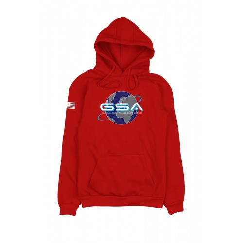 Men's GSA Earth Crew Hoodie in Red | 1719204-47