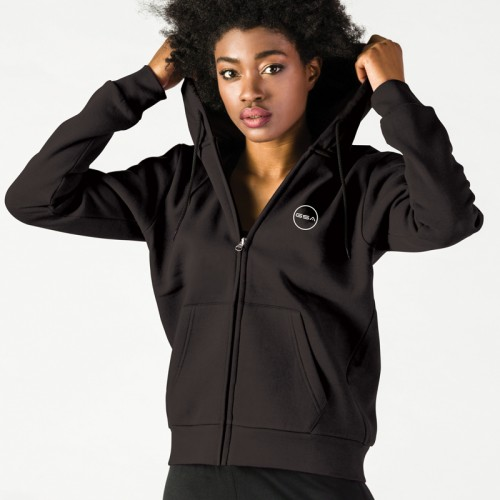 Women's GSA Supercotton Zipper Hoodie In Black | 1728032-01
