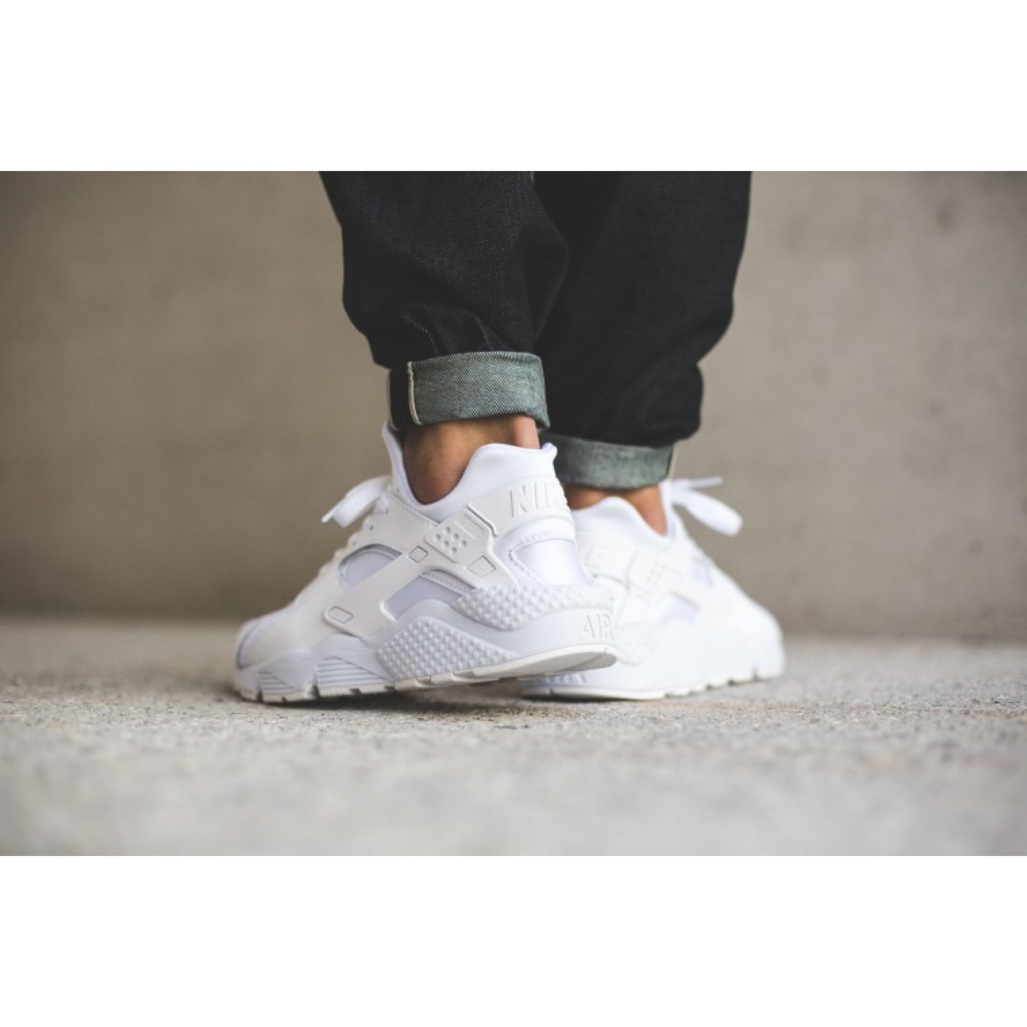 timeless design 139a1 2f0a0 Men s Nike Air Huarache Triple White   318429-111