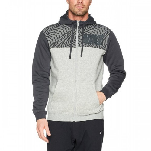 Men's Nike Grey Club Full Zip Graphic Hoodie | 861722-063