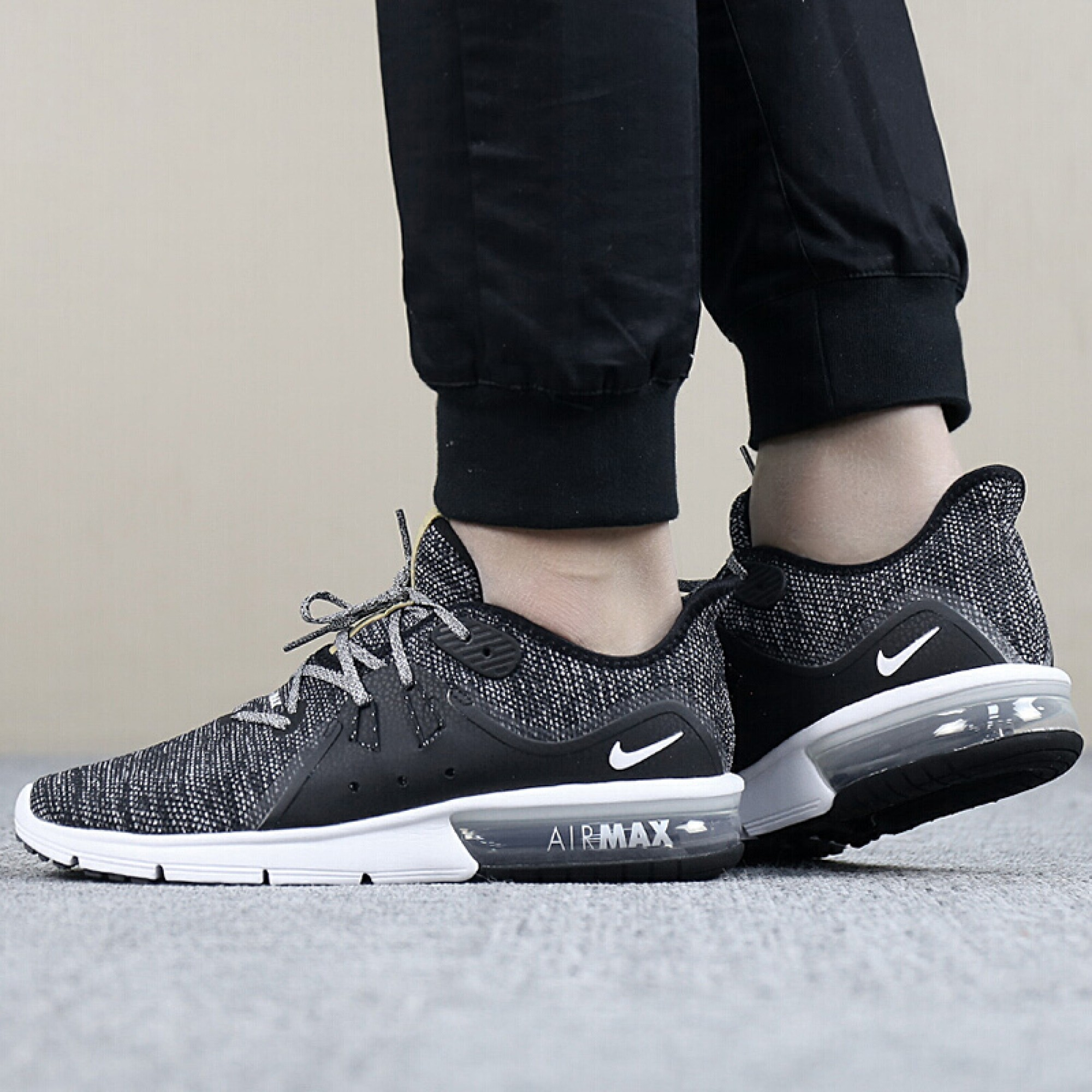 3f0c5f156ca ... Men's Nike Air Max Sequent 3 921694-011 Black- White Ανδρικό  Μαύρο-Λευκό ...