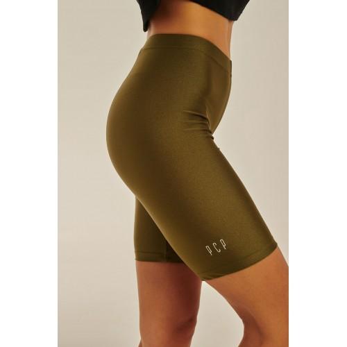 PCP - Amaryllis Biker Shorts Olive - Κολάν Amaryllis Ποδηλατικό Shorts Λαδί