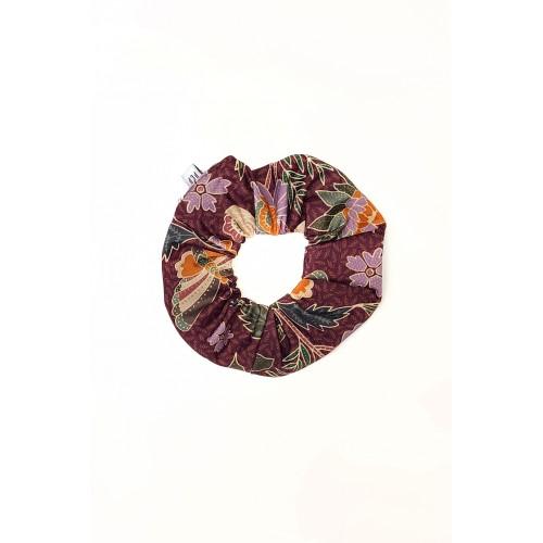 PCP Printed Scrunchie Butterflies Cinnamon - Εμπριμέ Κοκαλάκι Πεταλούδες Κανελλί