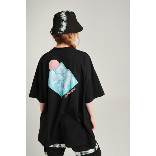 PCP Women's Black Altimètre T-shirt