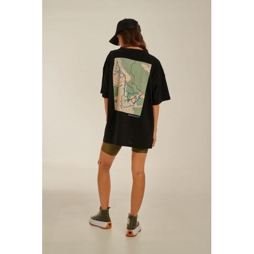 PCP Women's T-Shirt Vasilitsa Black | Γυναικείο Μπλουζάκι Vasilitsa Μαύρο