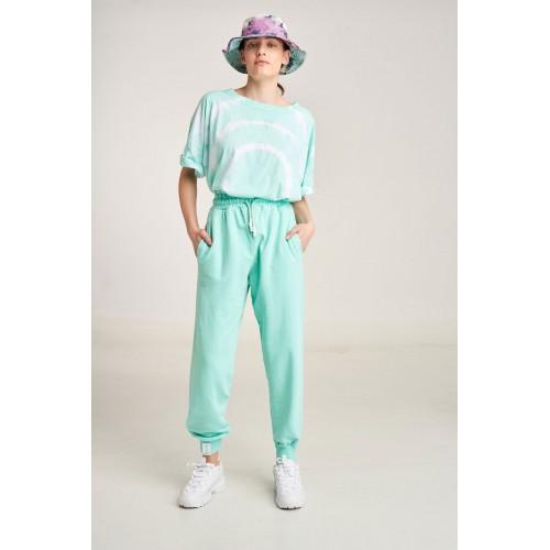 PCP Women's Tie-Dye T-shirt Circles Mint | Tie-Dye Μπλουζάκι Circles Μέντα