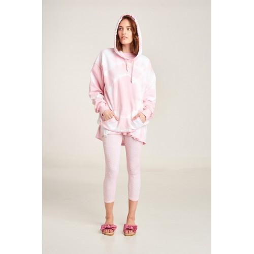 PCP Women's Tie-Dye T-shirt Circles Pink | Tie-Dye Μπλουζάκι Circles Ροζ