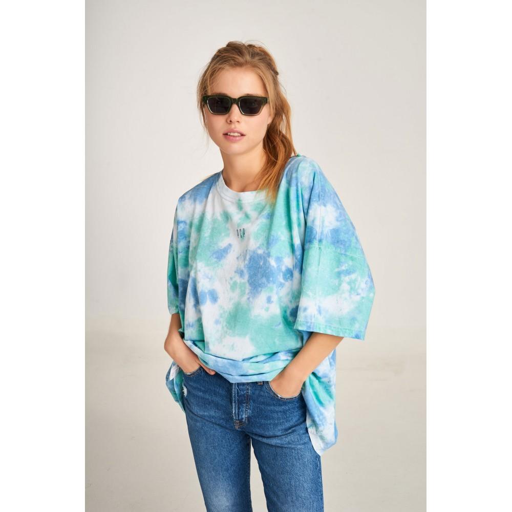 PCP Women's Tie-Dye T-shirt Militaire Blue   Tie-Dye Μπλουζάκι Militaire Μπλε