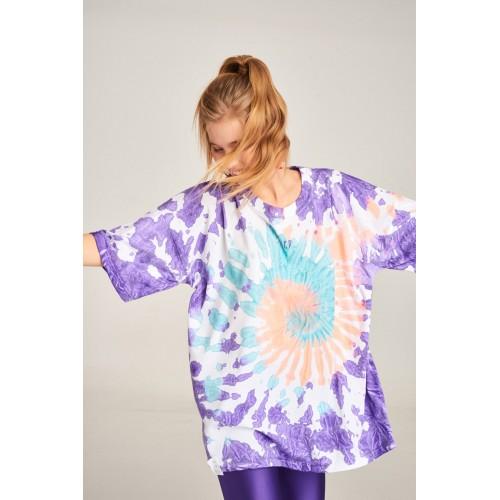 PCP Women's Tie-Dye T-shirt Rave Purple | Tie-Dye Μπλουζάκι Rave Μωβ