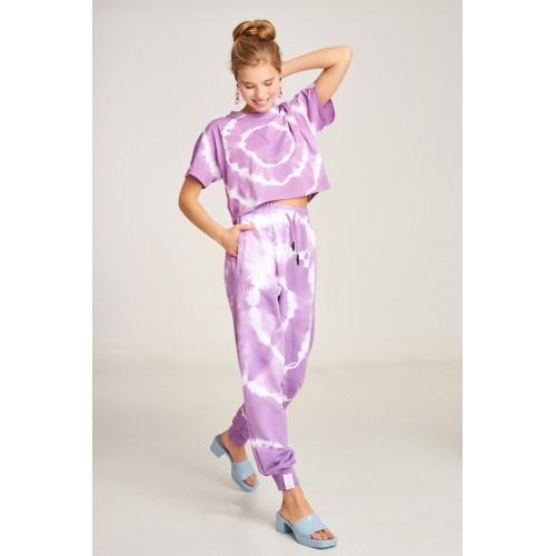 PCP Women's Tie-Dye Bae Trousers Circles Λιλά- Παντελόνι Circles Λιλά
