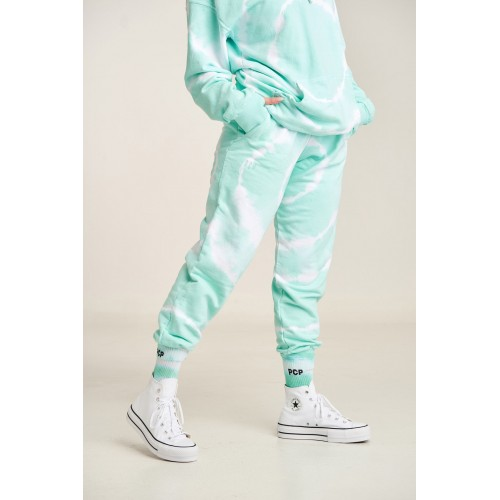 PCP Women's Tie-Dye Bae Trousers Circles Mint- Παντελόνι Circles Μέντα