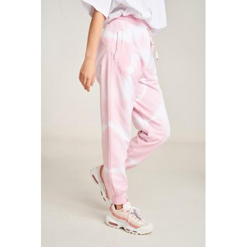 PCP Women's Tie-Dye Bae Trousers Circles Pink- Παντελόνι Circles Ροζ
