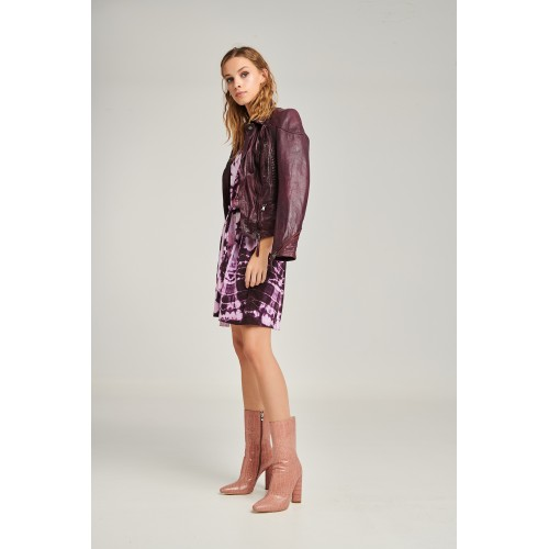 PCP Tie-Dye Dress Plum