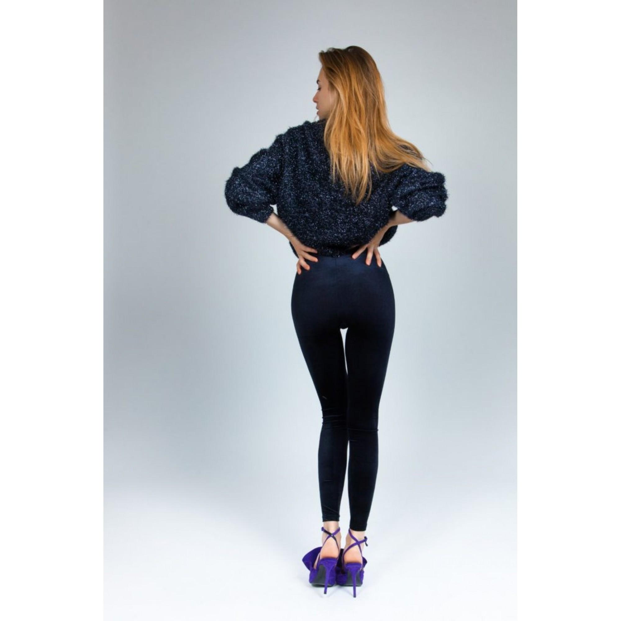 365c11d2c80e PCP - Teddy Velvet Smooth Leggings In Black Γυναικείο Κολάν Μαύρο