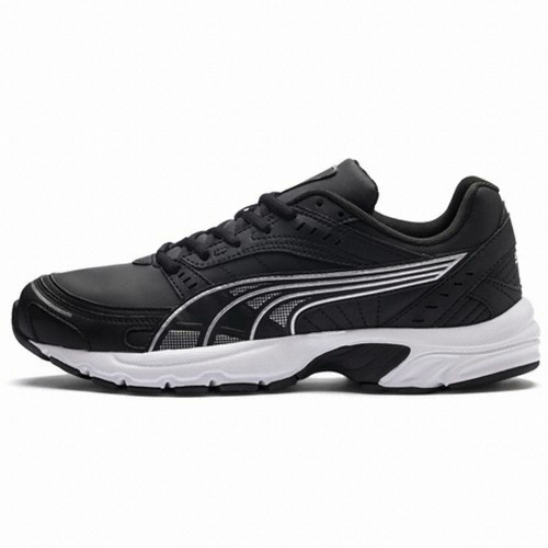 Men's Puma Axis SL 368466-02 | Ανδρικό μαύρο δερμάτινο παπούτσι