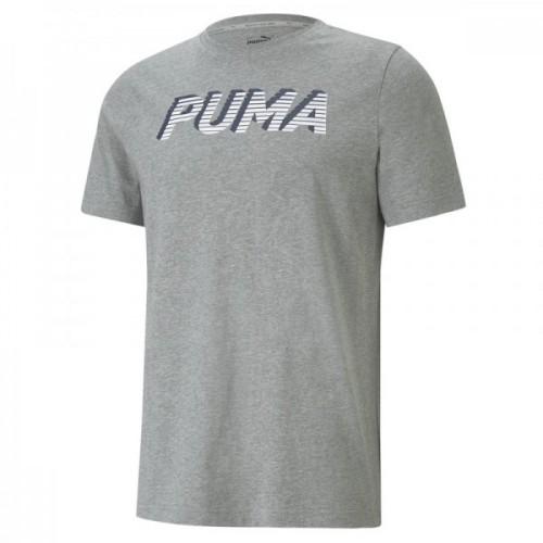Men's Puma Tricou modern sports logo tee in Grey | 585818-03